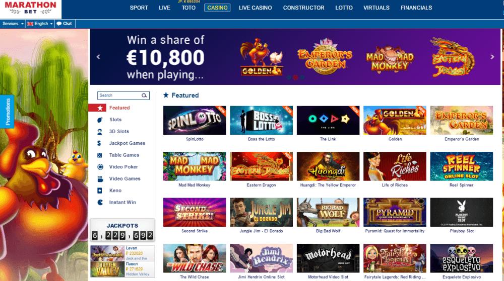 Review of Marathonbet casino