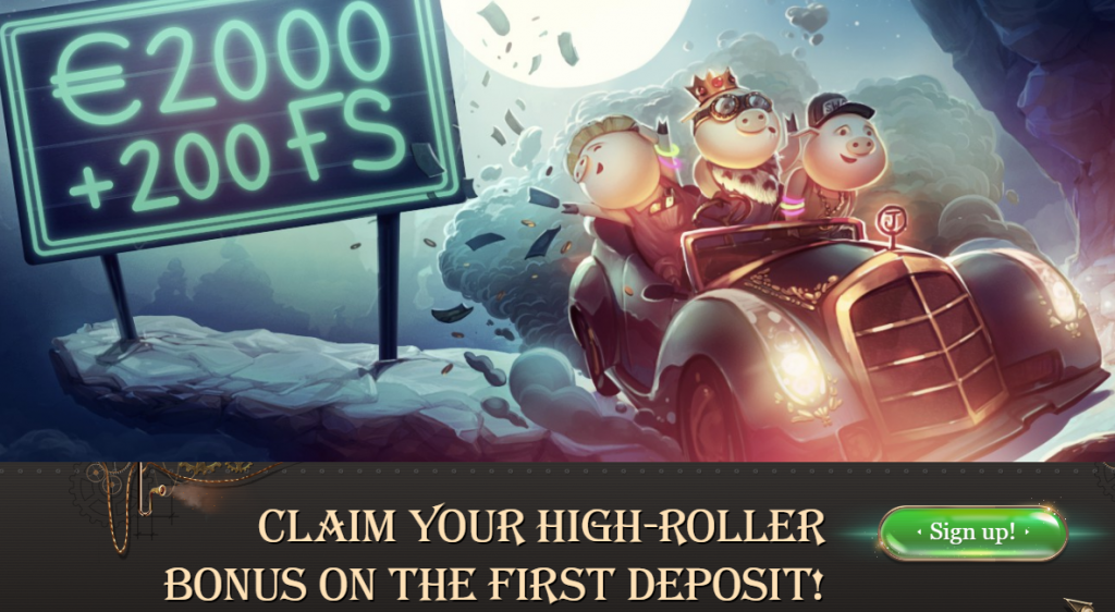 joy casino high-roller bonus